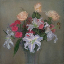 - artwork Herbs_flowers-1274471582.jpg - 1995, Painting Oil, Still Life