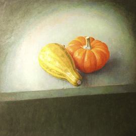 Sofia Wyshkind Artwork Lime light Two Squashes, 1999 Oil Painting, Conceptual