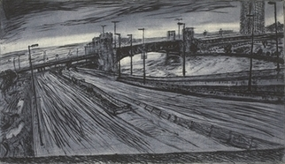 Sofia Wyshkind Artwork MouthChicagoRiver, 1995 Other Printmaking, Cityscape