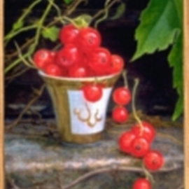 Sofia Wyshkind: 'RedCurrant', 1998 Oil Painting, Still Life.