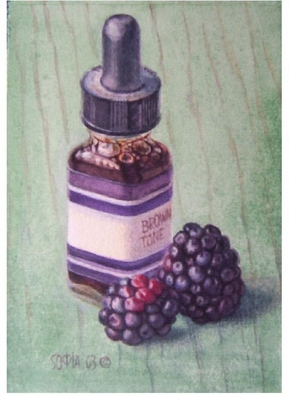 Sofia Wyshkind Artwork Serenade for Blackberry Brown Tone, 2000 Watercolor, Still Life