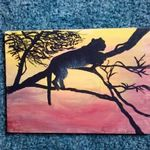 leopard at sunset By Sybil Fulk