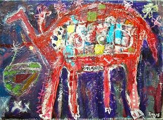 Sylvain Dez Artwork 'Dromadodiplo', 2006. Acrylic Painting. Animals. ...