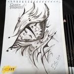 Dragon Eye Sketch, Syed Waqas  Saghir