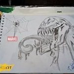 marvel venom art By Syed Waqas  Saghir