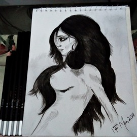 nude girl drawing By Syed Waqas  Saghir
