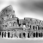rome digital sketch By Syed Waqas  Saghir