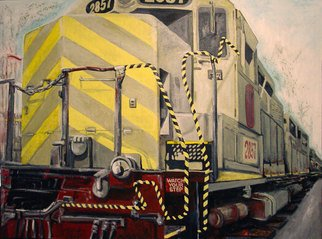 Sylvain Chamberlain: 'Crosstown', 2010 Acrylic Painting, Trains. Artist Description: SOLD   ...