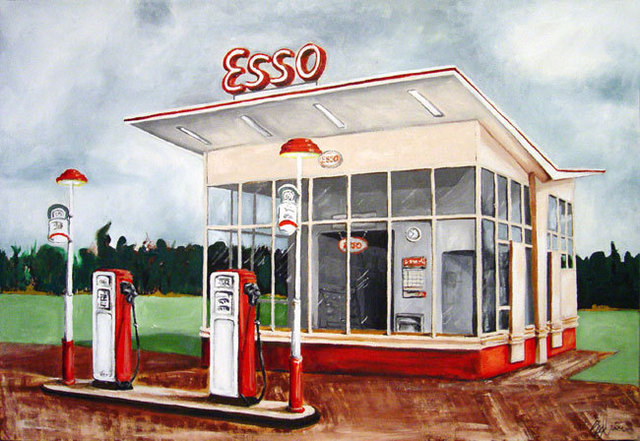 Sylvain Chamberlain  'ESSO', created in 2011, Original Painting Acrylic.