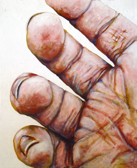 Sylvain Chamberlain  'Four Fingers', created in 2011, Original Painting Acrylic.