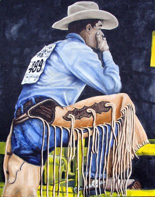 Sylvain Chamberlain: 'Rodeo', 2011 Acrylic Painting, People.   Just a painting                 ...