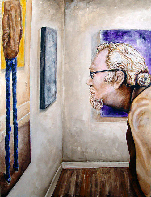 Artist Sylvain Chamberlain. 'The Viewer' Artwork Image, Created in 2011, Original Painting Acrylic. #art #artist
