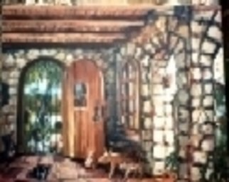 Artist: Kevin Tacka - Title: Coral House Interior - Medium: Oil Painting - Year: 1992