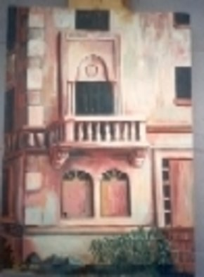 Artist: Kevin Tacka - Title: Exterior Porch Miami  - Medium: Oil Painting - Year: 1992