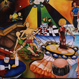Thomas Gullo Artwork Lounge, 2009 Oil Painting, Surrealism