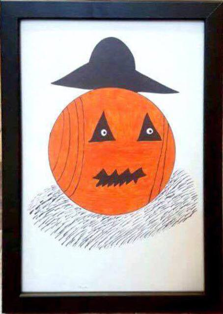 Taha Alhashim  'Old Pumpkin Guy', created in 2016, Original Drawing Pencil.