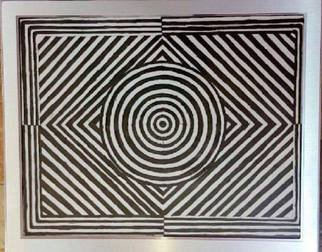 Taha Alhashim: 'Optical Illusion', 2009 Ink Painting, Abstract. Artist Description:  This painting was made by a black ink, and it was made in 2009. The main thing about it is when you look at it for at least 5 minutes, you will more likely to fill in asleep, and it is great for people who like to do ...