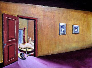 Landscape Acrylic Painting by Takatomo Homma Title: When Ruth Comes to the Room, created in 2006