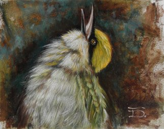 Tal Dvir Artwork Green Bee Eater, 2015 Oil Painting, Animals