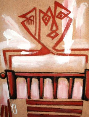 Najmaddin Huseynov Artwork 'bedstead', 2013. Oil Painting. Geometric. Artist Description: cardboard on oil ......