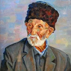 Najmaddin Huseynov: 'life has passed', 1992 Oil Painting, Portrait. Artist Description: Canvas on oil          ...