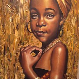 Piet Mashita Artwork African Daughter, 2015 Oil Painting, Political
