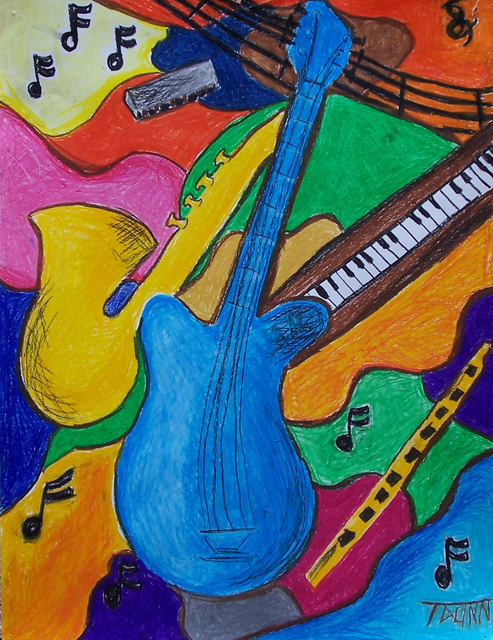 Tammy Dunn  'Music', created in 2007, Original Painting Acrylic.
