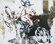 - artwork Bicycle_girl_with_element_of_secessione-1295696446.jpg - 1994, Printmaking Etching, Figurative