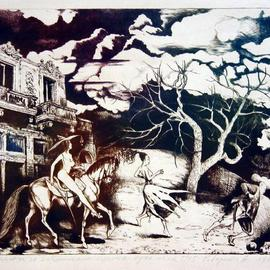 Roberto Andreev Artwork Memory for a Past Places, 1997 Etching, Figurative