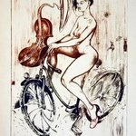 Musical Girl With Bicycle, Roberto Andreev