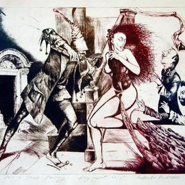 Roberto Andreev Artwork Song for a three lady, 2002 Etching, Figurative