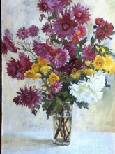 - artwork Chrisantems-1321116514.jpg - 2011, Painting Oil, Still Life