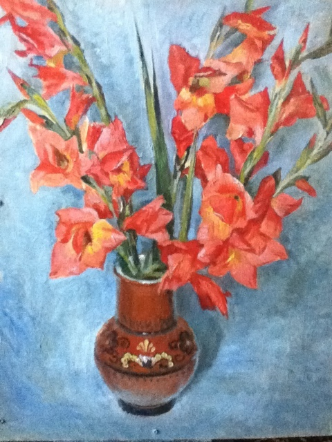 Tanya Balaeva  'Gladioluses', created in 2011, Original Painting Oil.