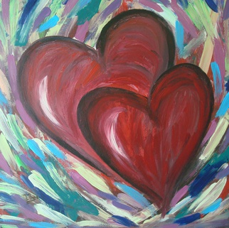 Acrylic Painting by Tanya Hansen titled: Tango of Love, 2014