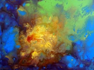 Tanya Hansen: 'supernova', 2017 Acrylic Painting, Abstract. Artist Description: A bright flash, starry nebula, multicolored gas streams for hundreds of miles around - and here it is - the birth of stars - Supernova. Multi- layer painting with liquid acrylic saturated colors. Enjoy ...