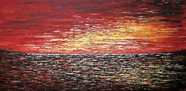 Tanya  Hansen  'Affinity Sunset', created in 2020, Original Painting Acrylic.