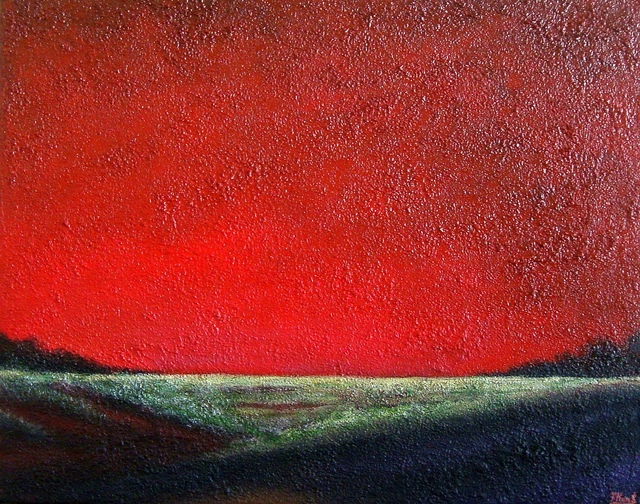 Tanya  Hansen  'Ruby Sunset', created in 2018, Original Painting Acrylic.