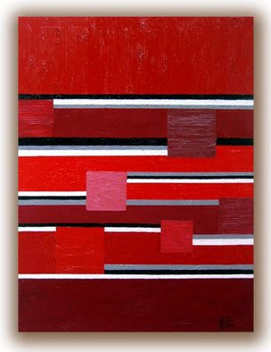 Tara Hutton Artwork Red Square, 2010 Mixed Media, Geometric