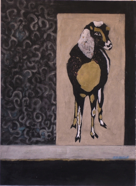 Pamela Tarbell  'My Pet Goat', created in 2008, Original Painting Oil.