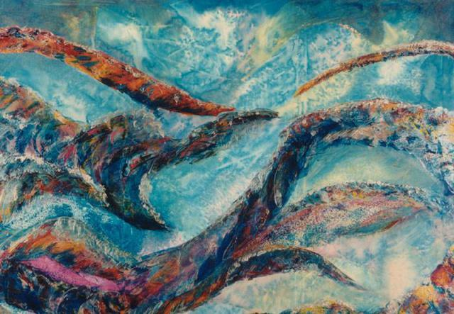 Tary Socha  'Light Between The Waves', created in 1997, Original Painting Other.