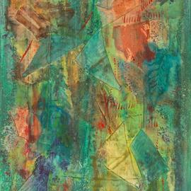 Tary Socha: 'Patina Effect No 2', 2006 Acrylic Painting, Abstract. Artist Description: Fragmented Recall Series. Recollections fade like the changing patina on aging copper. Miked acrylic mediums on gallery wrapped canvas....