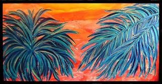 Tary Socha: 'Two Palms', 2005 Acrylic Painting, Botanical. A contemporary interpretation of palms....