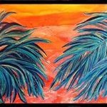 Two Palms By Tary Socha