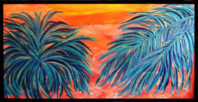 Artist Tary Socha. 'Two Palms' Artwork Image, Created in 2005, Original Painting Other. #art #artist