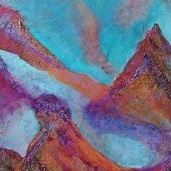, Etheral Peaks, Abstract, $3,150