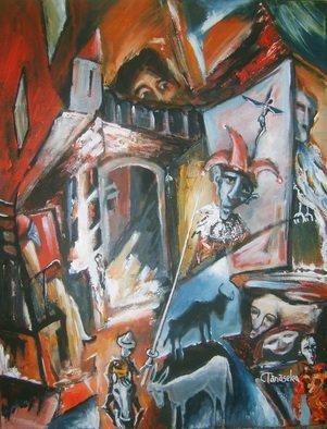 Artist: Tanaselea Cristian Florin - Title: Reverse perspective  Mythology - Medium: Acrylic Painting - Year: 2013