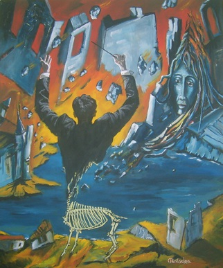 Acrylic Painting by Tanaselea Cristian Florin titled: Reverse perspective  The last performance, 2014