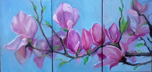 Magnoly Blossom Oil Painting By Tatiana Tarasova Absolutearts.com