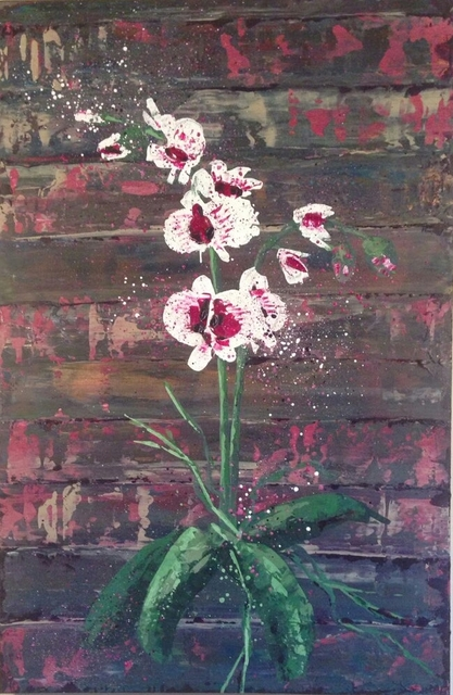 Tatsiana Yukhno  'Orchids', created in 2017, Original Painting Acrylic.