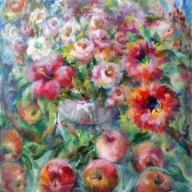 Tatyana Berestov: 'My Summer Garden', 2013 Oil Painting, Still Life. Artist Description:   still life    ...